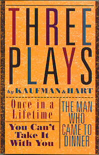 Cover of Book with Kaufman and Hart Plays