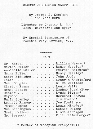 Cast from program