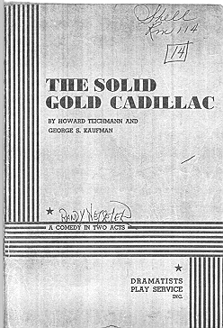 Solid Gold Cadillac script cover